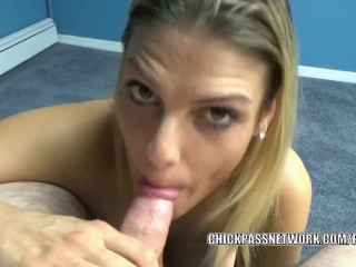 Oral hottie Stevie Rae does some point of view dick sucking