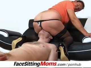 A dude has to eat very old pussy feat. hairy gilf Linda