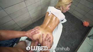 With facial shower reeves blonde lubed kenzie and fuck tiny cowgirl shower