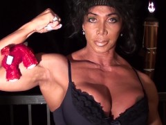 Pec Flexing With Teddy on the Terrace with LDR, IFBB Pro FBB Fitness