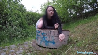 Agent creampied savage alessa public outdoors gets of in