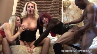 Shemales a three black with man transexual assfuck