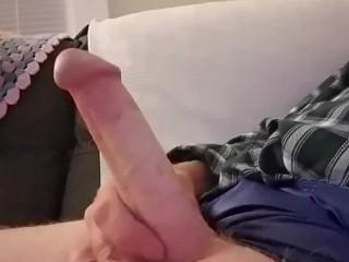 At it again!! Jerk that big cock!!