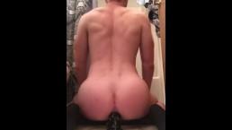 Masked twink anal gaping