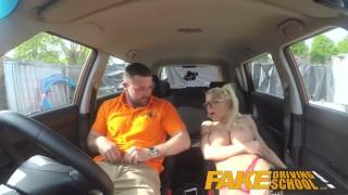Fake school blonde splattered big glasses and cum fucked gets driving tits hot big