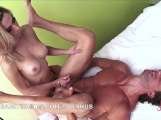 Big ass active and passive shemale with guy cumshot