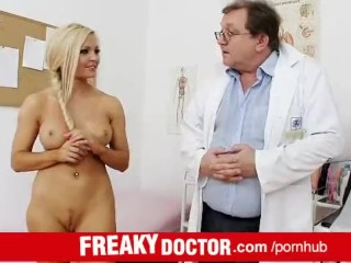 Czech hottie Nicky Angel treated by dirty doctor