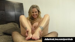 Hot Classy Milf Julia Ann Takes A Cock In Her Mouth & Hands!