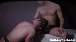 Hunky bondage masters dominating young twinks