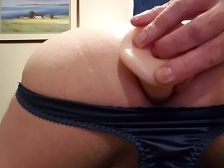 Much needed dildo in my ass and a good jerk off!!