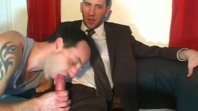 Jerome's monster cock gets sucked by us in spite of him!