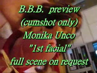 Preview: Monika Unco`s 1st Facial (cumshot only)