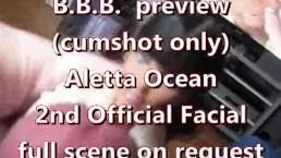 BBB preview: Aletta Ocean's 2nd official facial (cumshot only)