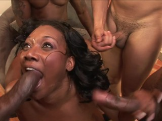 EBONY SLUT NAOMI BANXXX GETS GANGBANGED BY MONSTER BLACK COCKS