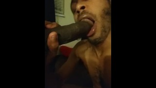 Love playing with dick in my mouth