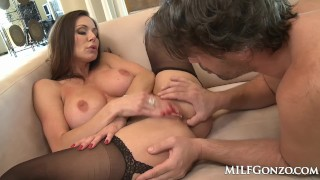 MILFGonzo Kendra Lust has her pussy impaled by young stud