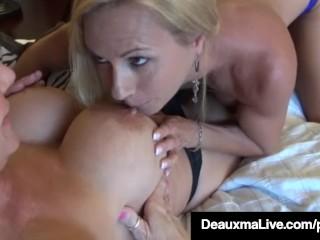 Horny Milf Deauxma & Brooke Tyler Pussy Pleasure Each Other!
