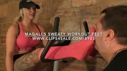 Magali's Sweaty Workout Feet - www.c4s.com/8983/18148360