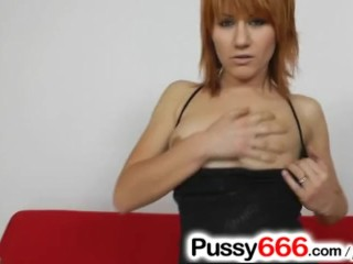 Up close pussy masturbation with Euro gal Lucy Bell