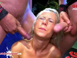 Busty Licky Lex cum covered - German Goo Girls
