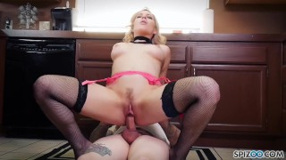 Jessicas Ryan gets a nice fuck by her Chef in the kitchen