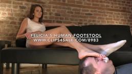 Felicia's Human Footstool - www.c4s.com/8983/18148400