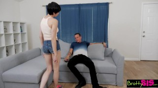 BrattySis - Little Step Sis Loves It Rough Over cock