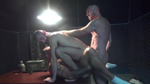 Free real gay prison sex stories - Gaytanamo - hairy muscle bareback prison threesome