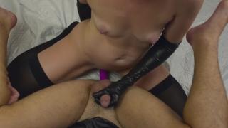 Girl fucks guy with a strapon - my new strapless dildo ( femdom, pegging ) porno