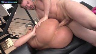 Hot blonde Julie Cash prefers doggystyle and face fucking