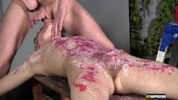 Reece Gets Waxed And Fed