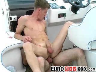Lusty Lucas and Mark W have steamy gay sex on the boat