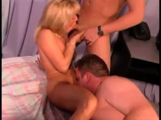 Preview 4 of Mature Petite Mom Gets Used By 2 Young Guys with Failed Double-Penetration