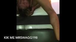 Gag slut taking dick while bf waits n the car