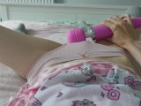 little girl misses her daddy and comes for him | loud intense orgasm