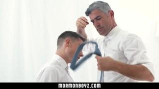 Boy handsome mormonboyz cult fucks leader quiet submissive son bareback