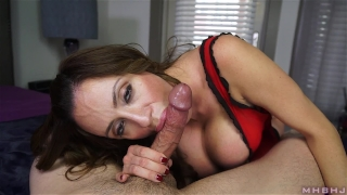 Insatiable MILF inhales hard cock Oral rough