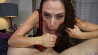 Insatiable MILF inhales hard cock Mom mother