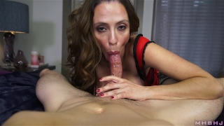 Hard milf inhales insatiable cock mom in