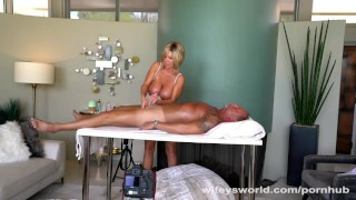 Gives huge facial wifey herself a blonde fucking