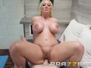 Curvy Milf Seduces a Young Dude for A Hot Tub Fuck - Brazzers