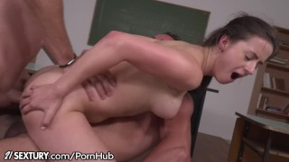 Sextury swallowing dp class schoolgirl after 21sextury threesome