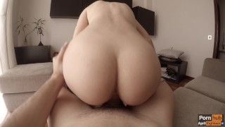 Morning creamy quickie to celebrate one million views ♡ (WITH CREAMPIE!) Girl interracial