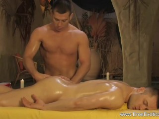 Relaxing anal massage for boys...