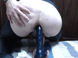 10' dildo up my tight sissy slut hole