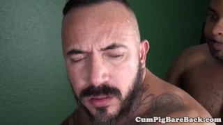 Black wolf assfucking a muscular bear Big cumshot