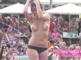 WILD NUDE SLUT CONTEST KEY WEST POOL PARTY PT.2