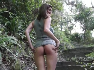 Amber plays in a public park