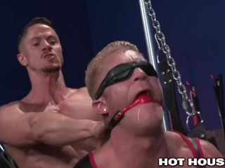 HotHouse Skyy Knox Gags and Blindfolds Hunk Johnny V