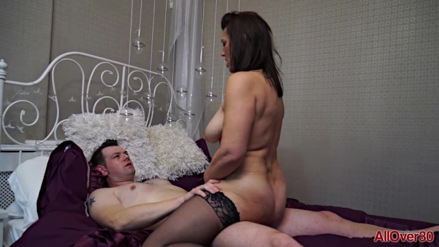 Allover30 strip - Get to know a thick 47 year old milf raven before she gets fucked